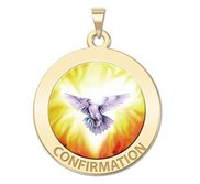 Confirmation Religious Medal    Holy Spirit  Color EXCLUSIVE