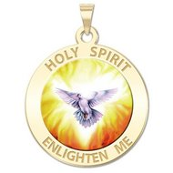 Holy Spirit Religious Medal   Color EXCLUSIVE