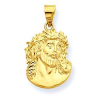 14K Yellow Gold  Ecce  Homo  Christ Head