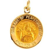 Our Lady of Perpetual Help Religious Medal