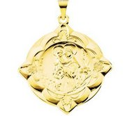14K Gold Saint Anthony Religious Medal