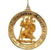 Saint Christopher Religious Medal