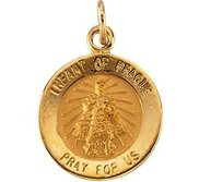 Infant of Prague Religious Medal