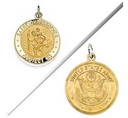 Saint Christopher Double Sided US ARMY Religious Medal