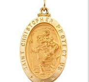 Saint Christopher Oval Medal