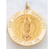 14K Gold Our Lady Of Guadalupe medal