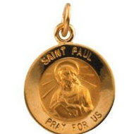 14K Gold Saint Paul the Apostle Religious Medal