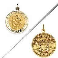 Saint Christopher Double Sided US Navy Religious Medal