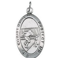 ST  CHRISTOPHER FOOTBALL PENDANT