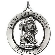 RD ST  CHRISTOPHER PEND MEDAL W  24 INCH CHAIN