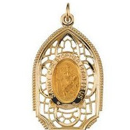 Saint Christopher Cathedral Religious Medal