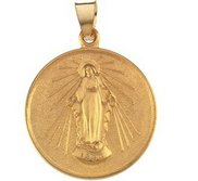 18k Yellow Gold Miraculous Medal