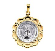 14K TWO TONE MIRACULOUS MEDAL