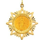 14k Yellow Gold Star MIRACULOUS MEDAL