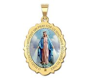 Miraculous Medal Scalloped Oval  EXCLUSIVE