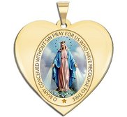 Miraculous Medal Heart Shaped Color  EXCLUSIVE