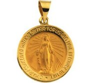HOLLOW ROUND MIRACULOUS MEDAL
