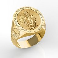 Miraculous Medal Virgin Mary Ring  EXCLUSIVE