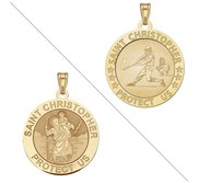 Baseball   Saint Christopher Doubledside Sports Religious Medal  EXCLUSIVE
