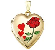 Solid 14K Yellow Gold  Valentines  Sweetheart Locket