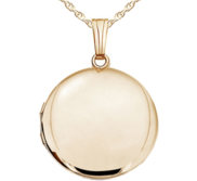 Solid 14k Yellow Gold Round Yellow Picture Locket
