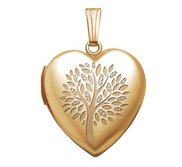 Yellow Gold   Family Tree   Heart Locket