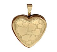 14K Gold Filled Yellow Heart Locket w  Heart Design