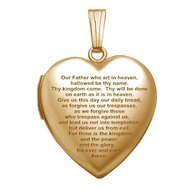 Solid 14K Yellow Gold  Lord s Prayer  Locket