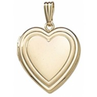 "Solid 14K Yellow Gold ""Sweetheart"" Locket"