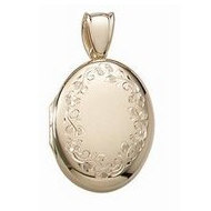 Solid 14k Premium Weight Yellow Gold Oval Picture Locket