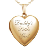 14K Gold Filled Daddy s Little Girl Heart Locket
