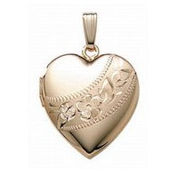 14K Gold Filled Heart Locket
