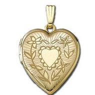 Solid 14K Yellow Gold  Sunshine  Locket
