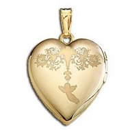 Solid 14K Yellow Gold  Sweetheart  Valentine s Day Locket