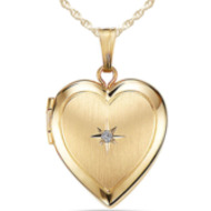14K Gold Filled General Diamond Heart Locket