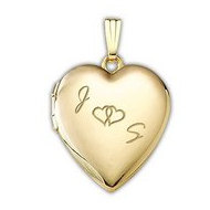 14K Gold Filled  Together Forever  Heart Locket