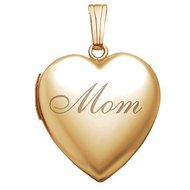 14K Gold Filled  Mom  Locket