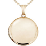 14k Yellow Gold Round Yellow Picture Locket