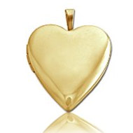 Solid 14K Solid Yellow Gold Heart Locket