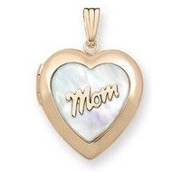 Solid 14K Yellow Gold  Mom  Locket