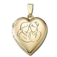 Solid 14K Yellow Gold  Sisters Devotion  Locket