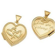 Solid 14K Yellow Gold INTERTWINE HEART LOCKET