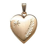 GOLD FILLED Small Heart Locket with Chain