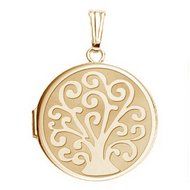 14k Gold Filled Tree Of Life Round Locket