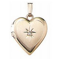Solid 14K Yellow Gold Children's Heart Locket