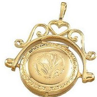 Solid 14K Yellow Gold Spinning Locket