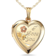 14k Heart W/ I Love You Engraved