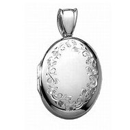 14k White Gold Oval Premium Weight Locket