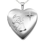 Sterling Silver Angel Locket