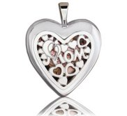 Sterling Silver  MOM  Window Heart Locket